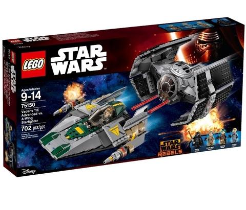LEGO Star Wars: Усовершенствованный истребитель TIE Дарта Вейдера против Звёздного истребителя A-Wing 75150
