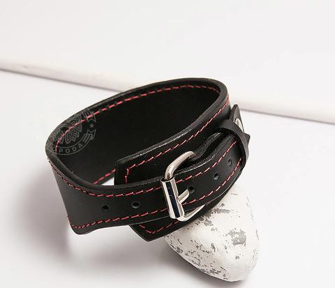 BL405-3 Черный браслет ручной работы из кожи