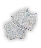 Комплект белья - Голубой / цветочки. Одежда для кукол, пупсов и мягких игрушек.