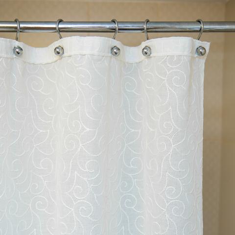 Элитная шторка для ванной 200х240 Embroidery 2555 Mix C. One от Arti-Deco