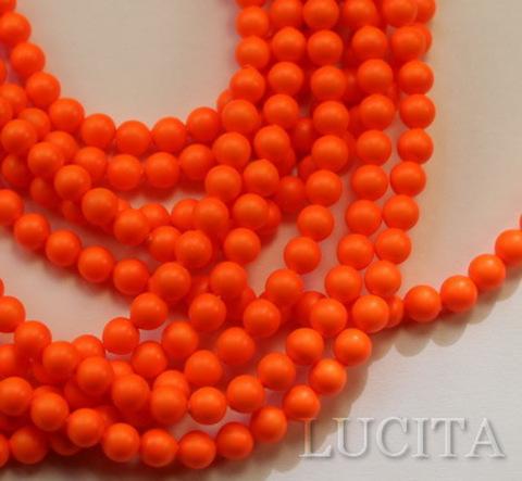 5810 Хрустальный жемчуг Сваровски Crystal Neon Orange круглый 4 мм,  10 штук ()
