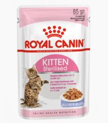 Royal Canin Kitten Sterilised влажный корм для стерилизованных котят от 6 до 12 месяцев в желе