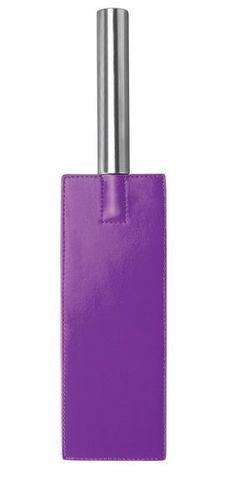 Фиолетовая прямоугольная шлёпалка Leather Paddle - 35 см.
