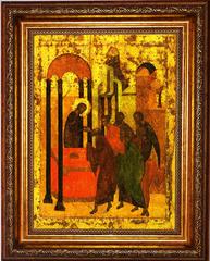 Преподание вина апостолам (Причащение вином). Икона на холсте.