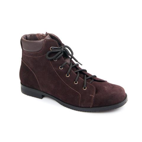 558370 ботинки женские коричневые. КупиРазмер — обувь больших размеров марки Делфино