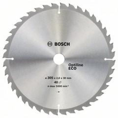 Диск по дереву Bosch 305х2,8х30 мм Optiline ECO Z40