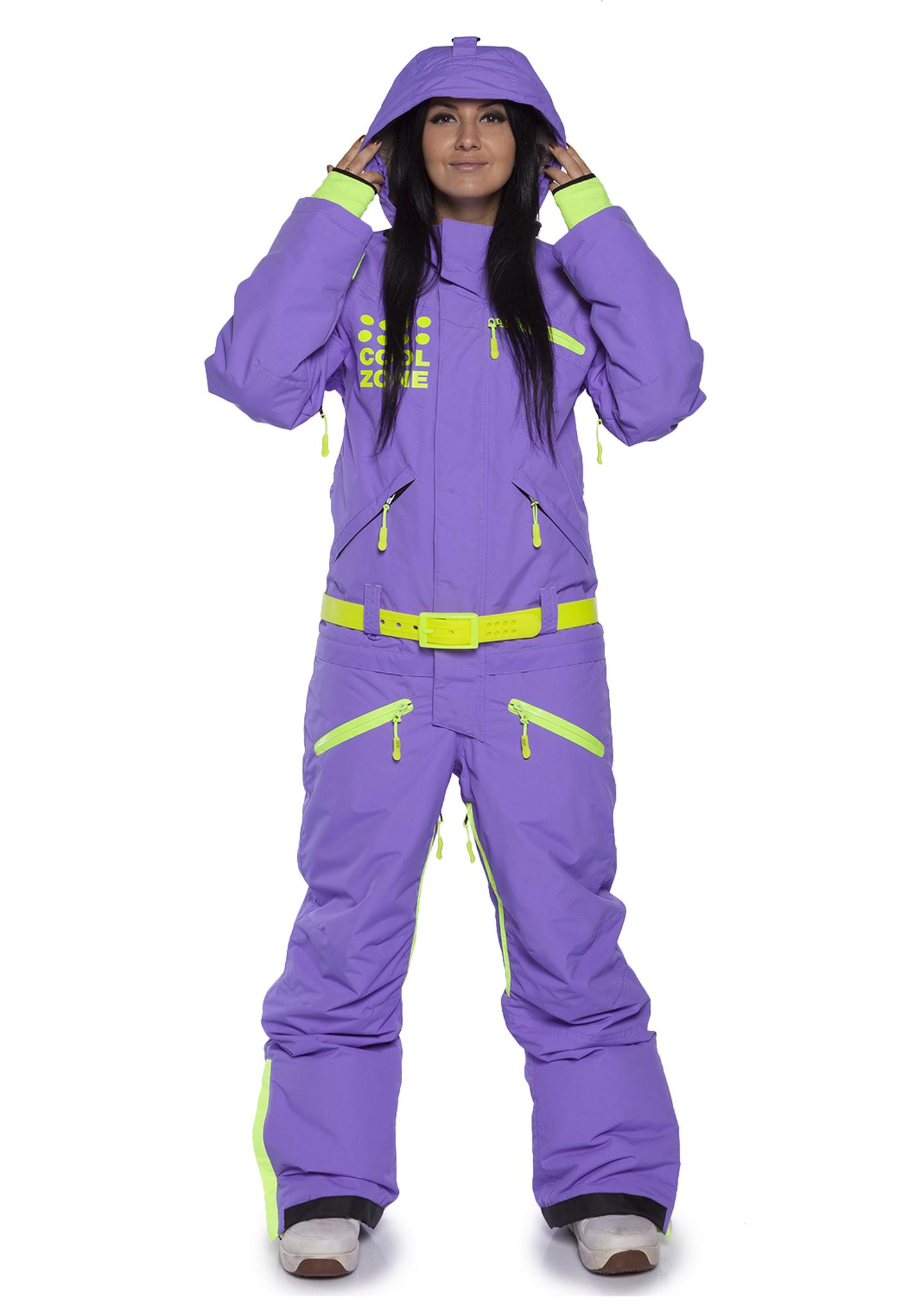 Комбинезон с флисовым утеплителем Cool Zone (Кул Зон) для женщин и девушек фиолетовый
