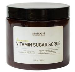 Витаминный сахарный скраб с кокосовым маслом, маслом макадамии, Mahash