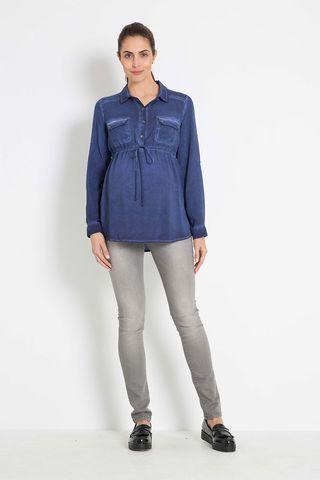 Блузка для беременных 07886 синий