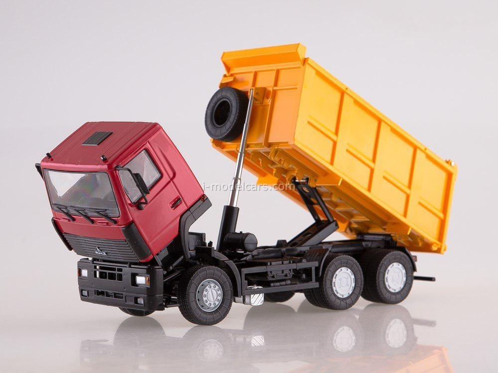 MAZ-6501 dump truck red-orange 1:43 AutoHistory