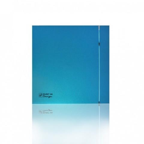Вентилятор накладной S&P Silent 200 CHZ Design 3C Sky Blue (таймер, датчик влажности)