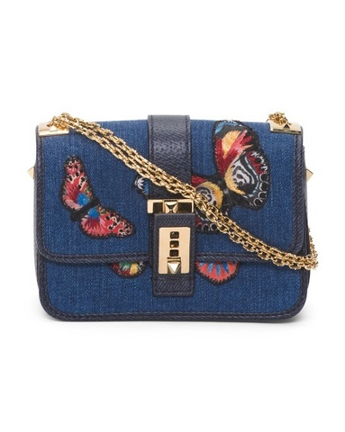 VALENTINO Denim Shoulder Bag