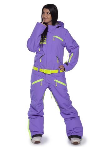 COOL ZONE FOX женский сноубордический комбинезон фиолетовый