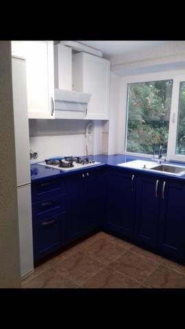 Кухонный гарнитур эмаль синий
