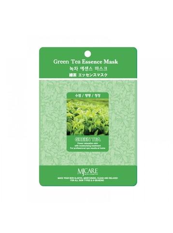 Маска тканевая с зеленым чаем MIJIN Cosmetic Green Tea Essence Mask