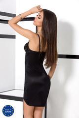 Черная сорочка женская эротическая с кружевом