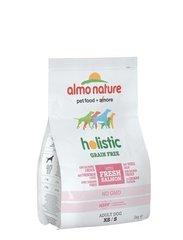 Беззерновой корм для собак карликовых и мелких пород, Almo Nature Holistic Grain Free Dogs XS-S, с лососем и картофелем