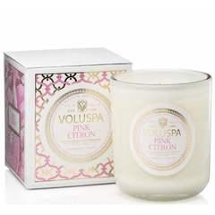 Ароматическая свеча Voluspa Розовый лимон в подарочной коробке