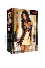 Эротическая женская сорочка злотисто-черная