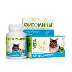 Фитомины для кошек для зубов и костей 50гр