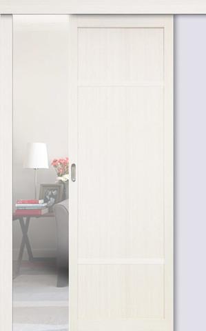 Перегородка межкомнатная Optima Porte 131.111, цвет белый монохром, глухая (за 1 кв.м)