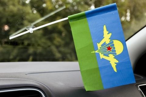 Флаг ВДВ СССР в машину 15x23 см с присоской