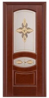 Дверь ПО Ювелия Махагон, Витраж