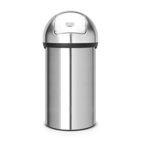 Мусорный бак Push Bin (60 л), Стальной матовый, арт. 484520 - фото 1