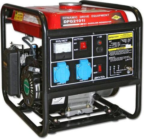 Генератор бензиновый инверторного типа DDE DPG2101i (1ф ном/макс. 2,4/2,6 кВт, т/бак 9 л, ручн/ст, 28кг)