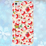 Чехол для iPhone 7+/7/6+/6/5/5s/5c/4/4s Santa pattern
