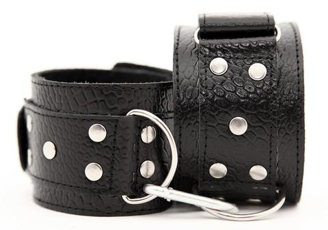 БДСМ наручники кожаные - BDSM Арсенал