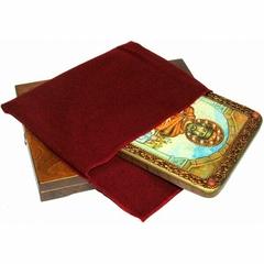 Инкрустированная икона Святой Благоверный князь Ярослав Мудрый 29х21см на натуральном дереве в подарочной коробке