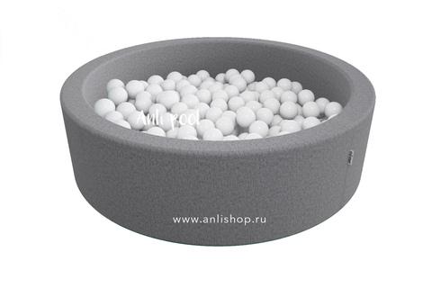 Сухой бассейн Anlipool диаметр 130 см. цвет Серый