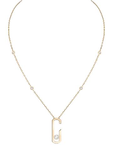 32921 - Колье из золочёного серебра с подвеской в стиле MESSIKA