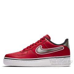 Кроссовки мужские Nike Air Force 1 Low '07 LV8 NBA Team Red White