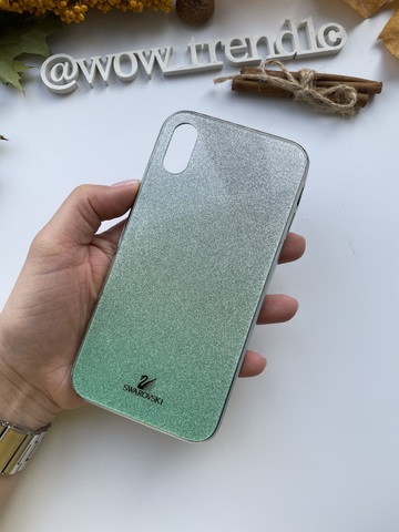 Чехол iPhone 11 Swarovski Case /green/