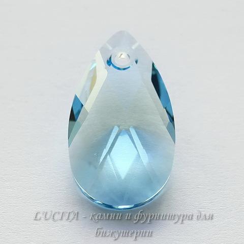 6106 Подвеска Сваровски Капля Aquamarine (22 мм)