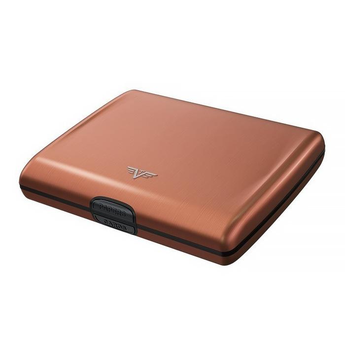 Кошелек-органайзер c защитой Tru Virtu RAY, цвет кофейный , 130*102*23 мм