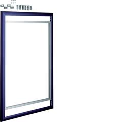 Дверца со сменной вставкой (иллюстративная, зеркальная) для встраиваемого Volta,3-рядного, синяя