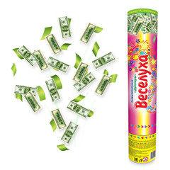 Пневмохлопушка Доллары 30 см