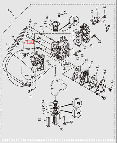 Хомут для лодочного мотора T9.8 Sea-PRO (2-11)