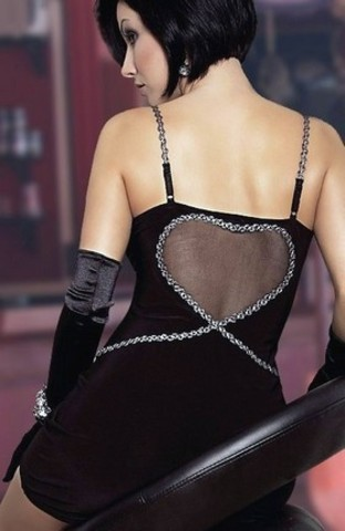 Мини-платье с вырезом-сердцем на спинке Elly