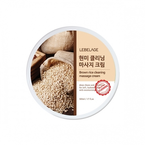 Очищающий крем LEBELAGE Brown Rice Cleansing Massage Cream 500ml