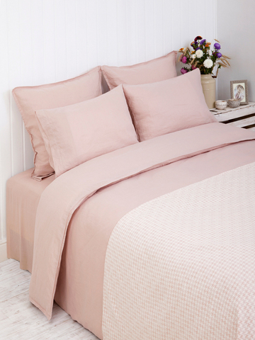 Пододеяльник 150х210 Bovi Linen розовый