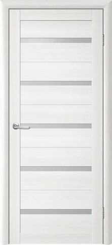 Дверь TrendDoors TDT-2, стекло белое матовое, цвет лиственница белая, остекленная