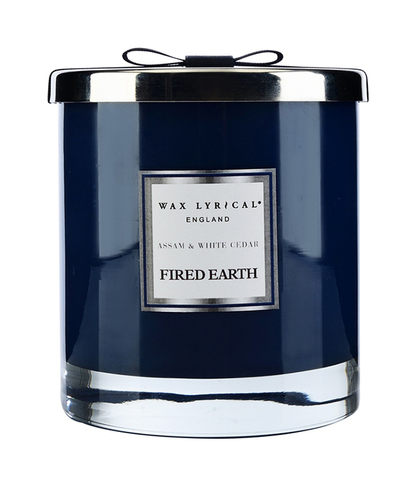 Свеча ароматическая в стекле Ассамский чай и белый кедр большая, Wax Lyrical