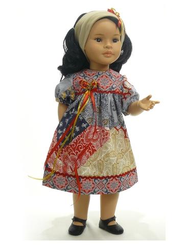 Платье печворк - На кукле. Одежда для кукол, пупсов и мягких игрушек.