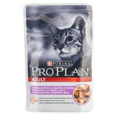 Корм для кошек Pro Plan кусочки с индейкой в желе 85г