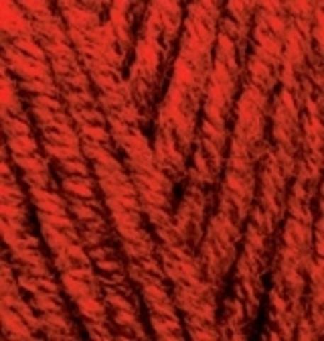 Пряжа Superlana maxi 802 красный жаспе Alize