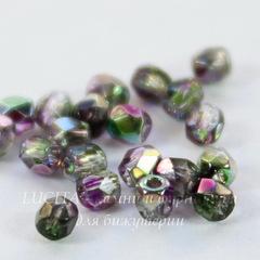 Бусина 2Tiny Шарик с огранкой, 2 мм, фиолетово-зеленая